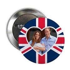"Royal Baby - William Kate 2.25"" Button"