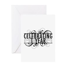 Celebrating 1 Year Greeting Card