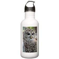 Barred Owl: Who are you??? Water Bottle