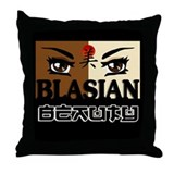 Blasian Beauty Throw Pillow