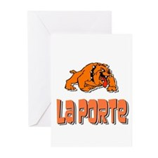 La Porte Bulldogs 2 Greeting Cards (Pk of 10)