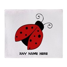 Ladybug Throw Blanket