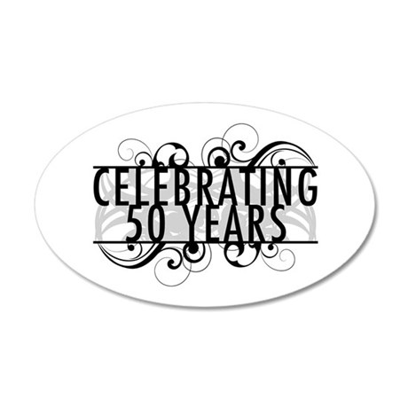 Celebrating 50 Years 35x21 Oval Wall Decal