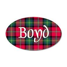 Tartan - Boyd 35x21 Oval Wall Decal