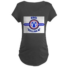 89th Infantry Division Rolling W Maternity T-Shirt