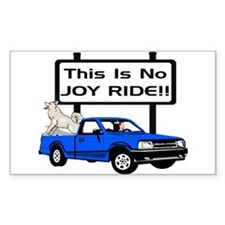 No Joy Ride Rectangle Decal