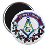 Masonic Holiday Magnet 2.25
