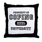 Coping University Throw Pillow