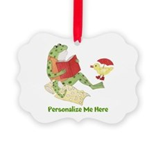 Personalized Frog Picture Ornament