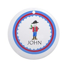 Personalized Pirate Ornament (Round)