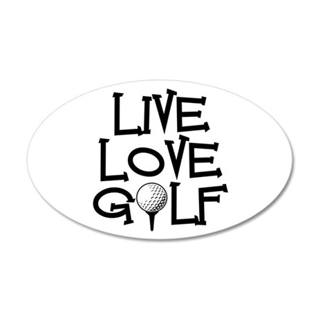 Live, Love, Golf Wall Decal
