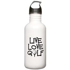 Live, Love, Golf Water Bottle