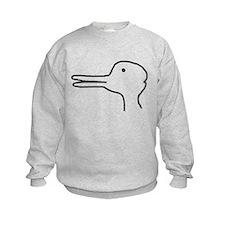 Rabbit Duck Optical Ilusion Sweatshirt