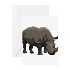 Classic Rhino Greeting Card