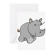 Baby Rhino Greeting Cards (Pk of 20)