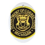 Michigan Corrections Oval Ornament