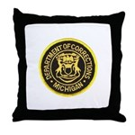 Michigan Corrections Throw Pillow