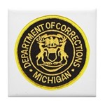 Michigan Corrections Tile Coaster
