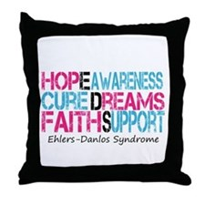 Ehlers Danlos Syndrome Hope Cure Awareness Throw P