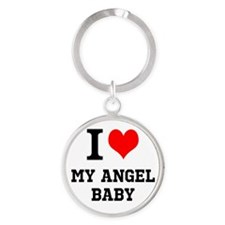 I Love My Angel Baby Keychains