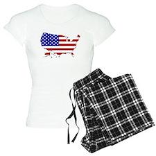US Flag Map Pajamas