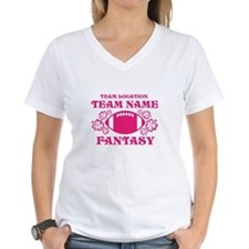Ladys Hot Pink Fantasy Personalized T-Shirt
