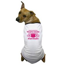 Ladys Hot Pink Fantasy Personalized Dog T-Shirt