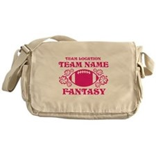 Ladys Hot Pink Fantasy Personalized Messenger Bag