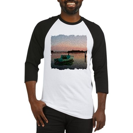 Sunset Boat Baseball Jersey