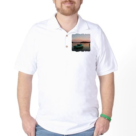 Sunset Boat Golf Shirt