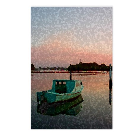 Sunset Boat Postcards (Package of 8)