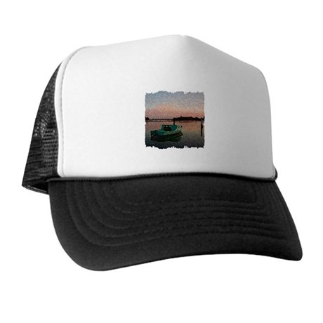 Sunset Boat Trucker Hat