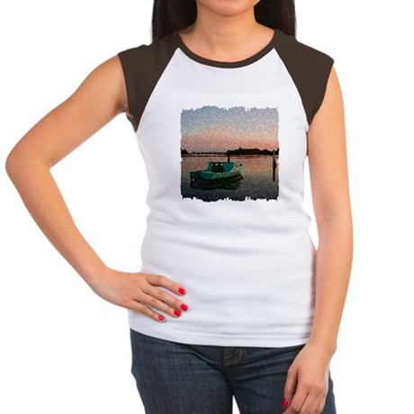 Sunset Boat Women's Cap Sleeve T-Shirt
