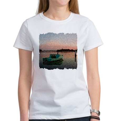 Sunset Boat Women's T-Shirt