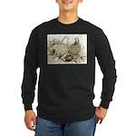Frillback Pigeons Long Sleeve Dark T-Shirt