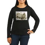 Frillback Pigeons Women's Long Sleeve Dark T-Shirt