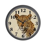 Cheetah Cat Wall Clock