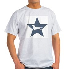Dachshund Star Ash Grey T-Shirt