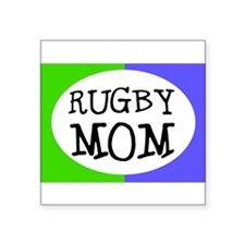 Rugby Mom Bumper Sticker (Small Oval) Sticker