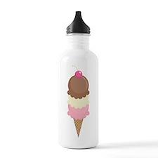 Three Scoop Ice Cream Cone Sports Water Bottle