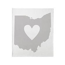 Heart Ohio Throw Blanket