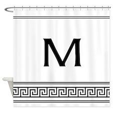 Personalized Art Deco Monogram Shower Curtain