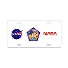 STS-104 Atlantis Aluminum License Plate
