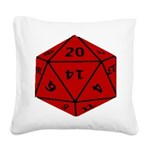 Geeky Dice Square Canvas Pillow