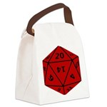 Geeky Dice Canvas Lunch Bag