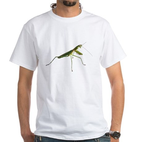 Praying Mantis White T-Shirt