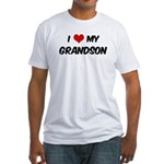 I Love My Grandson Fitted T-Shirt