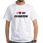 I Love My Grandson White T-Shirt
