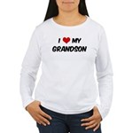 I Love My Grandson Women's Long Sleeve T-Shirt