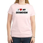 I Love My Grandson Women's Pink T-Shirt